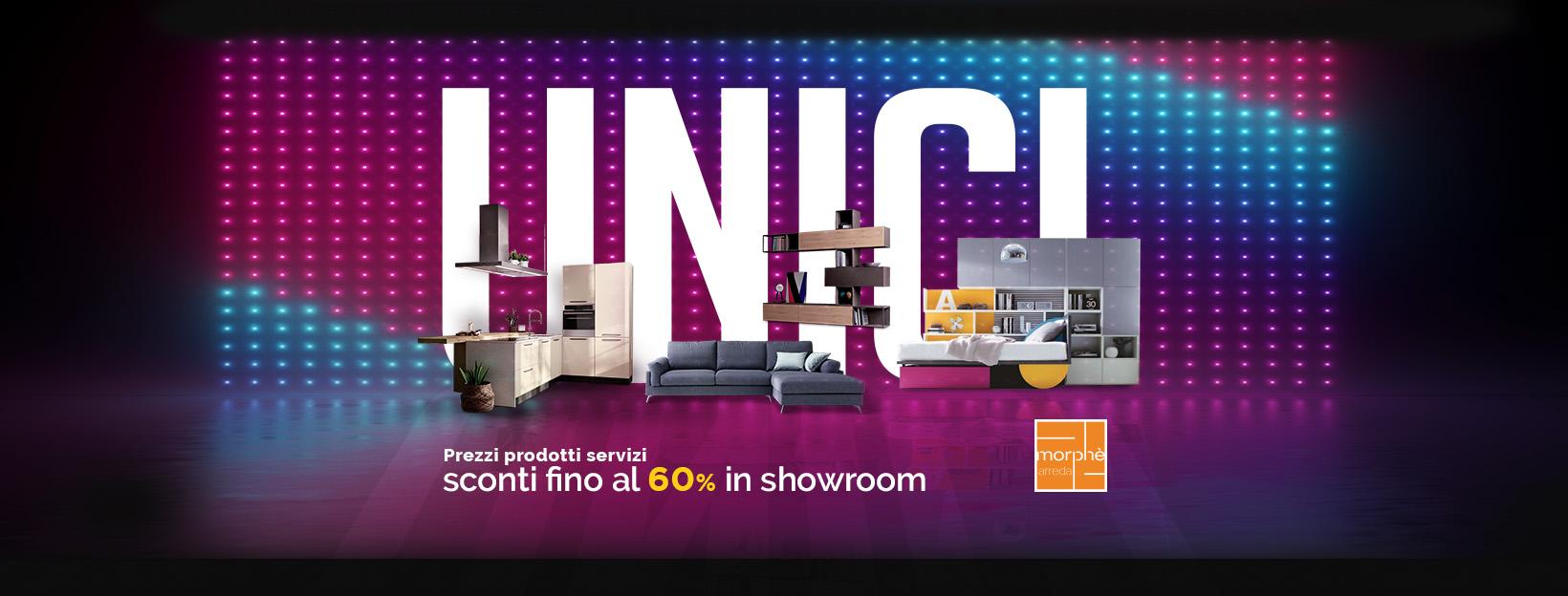 UNICI – Sconti in showroom fino al 60%